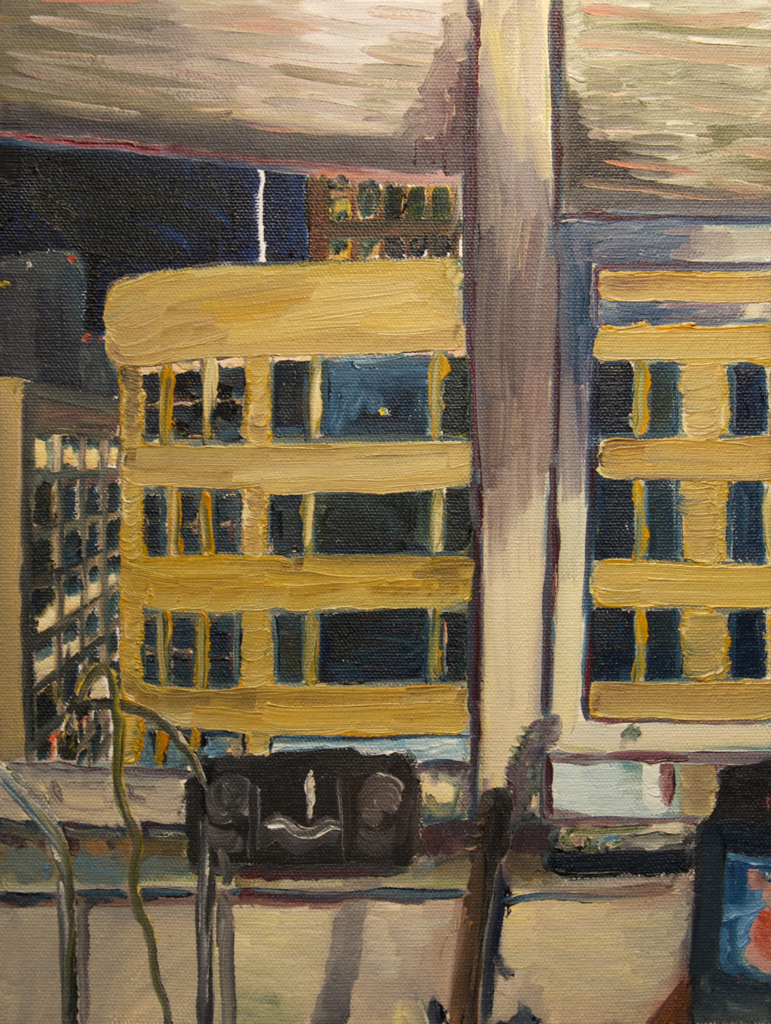 13th Floor, 7 West Madison oil painting (Chicago), by Billy Reiter