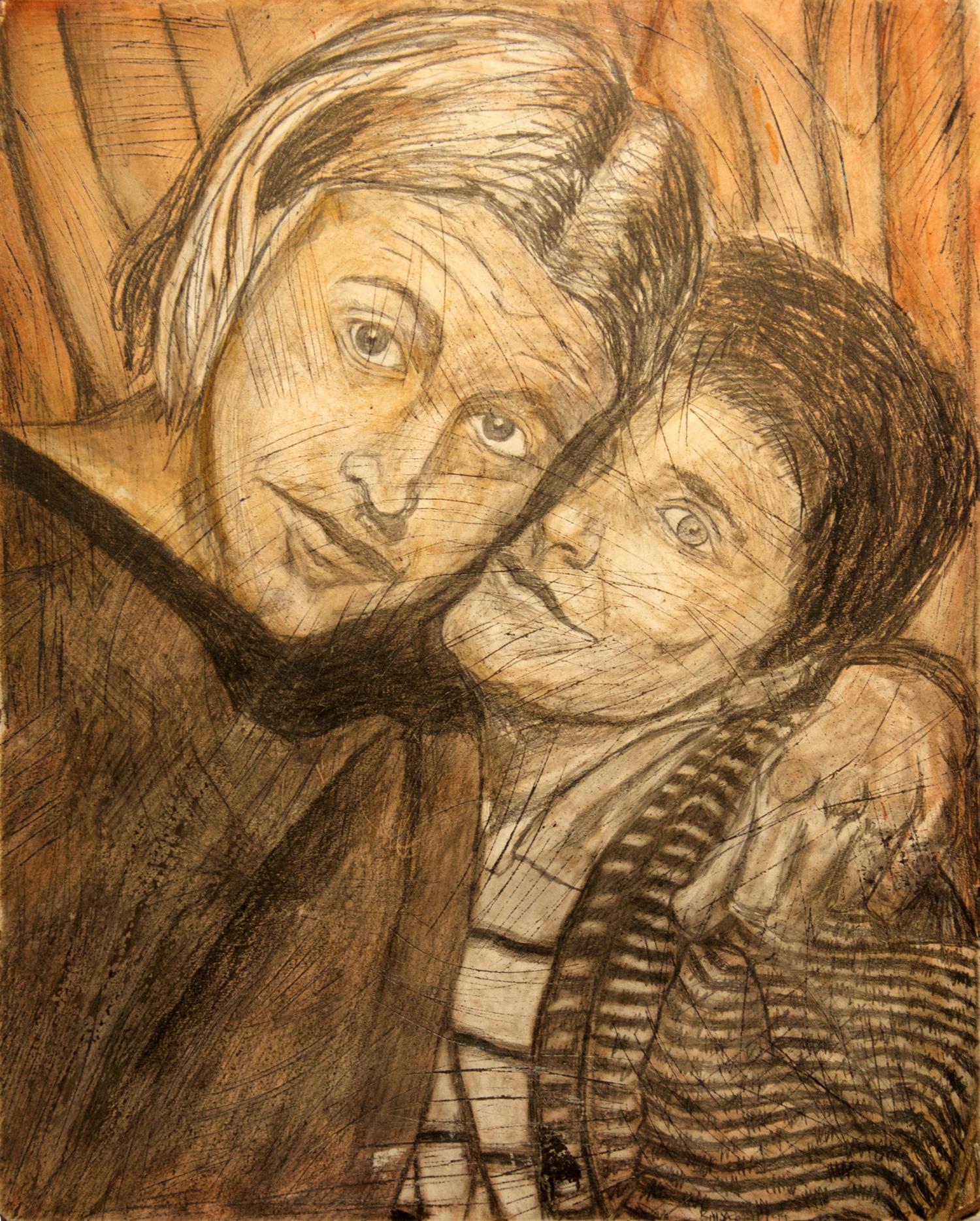 Billy & Tara portrait drawing, by Billy Reiter