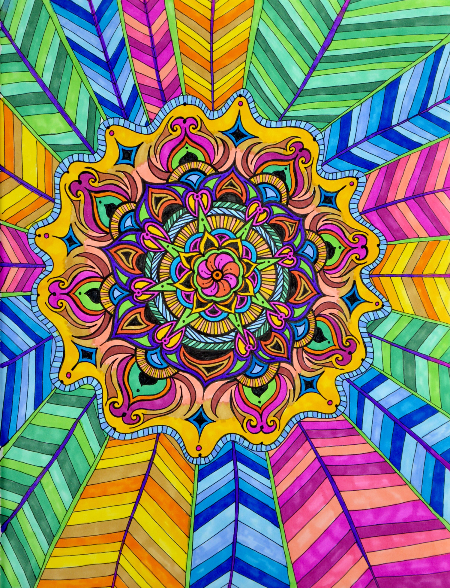 Flowers #3 drawing, by Tara Marolf