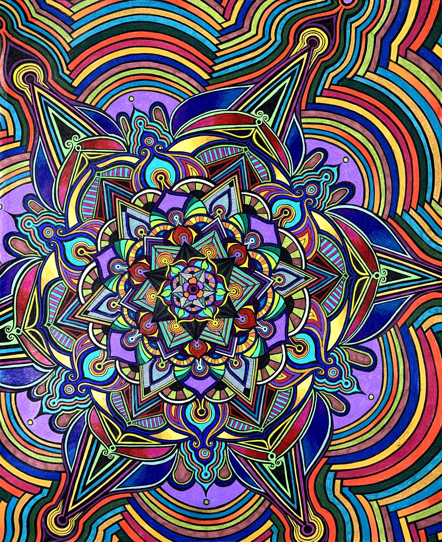 Flowers #9 drawing, by Tara Marolf