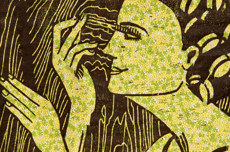 The Good Wife #1 woodcut print, by Tara Marolf
