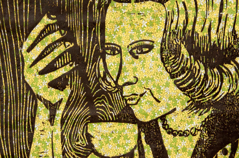 The Good Wife #2 woodcut print, by Tara Marolf