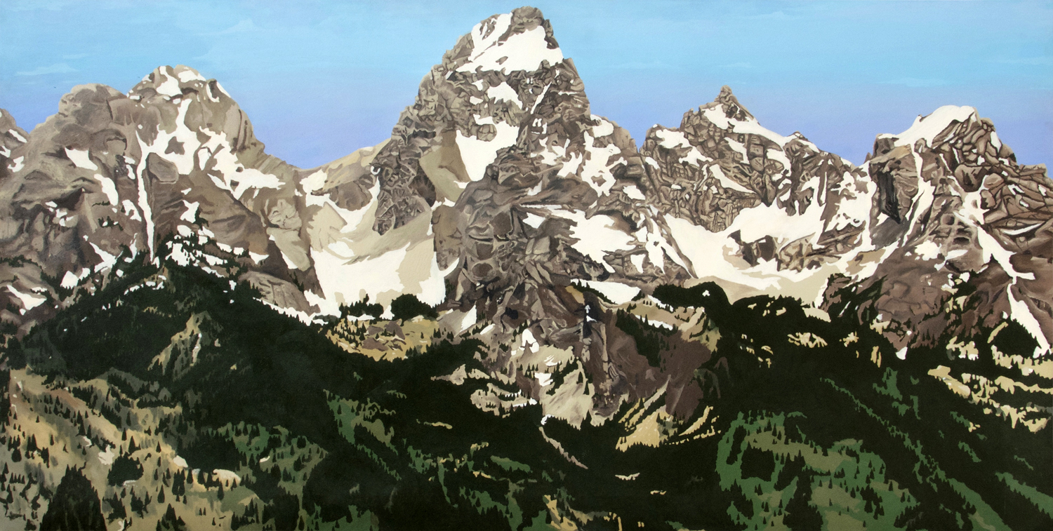 Grand Tetons painting, by Billy Reiter