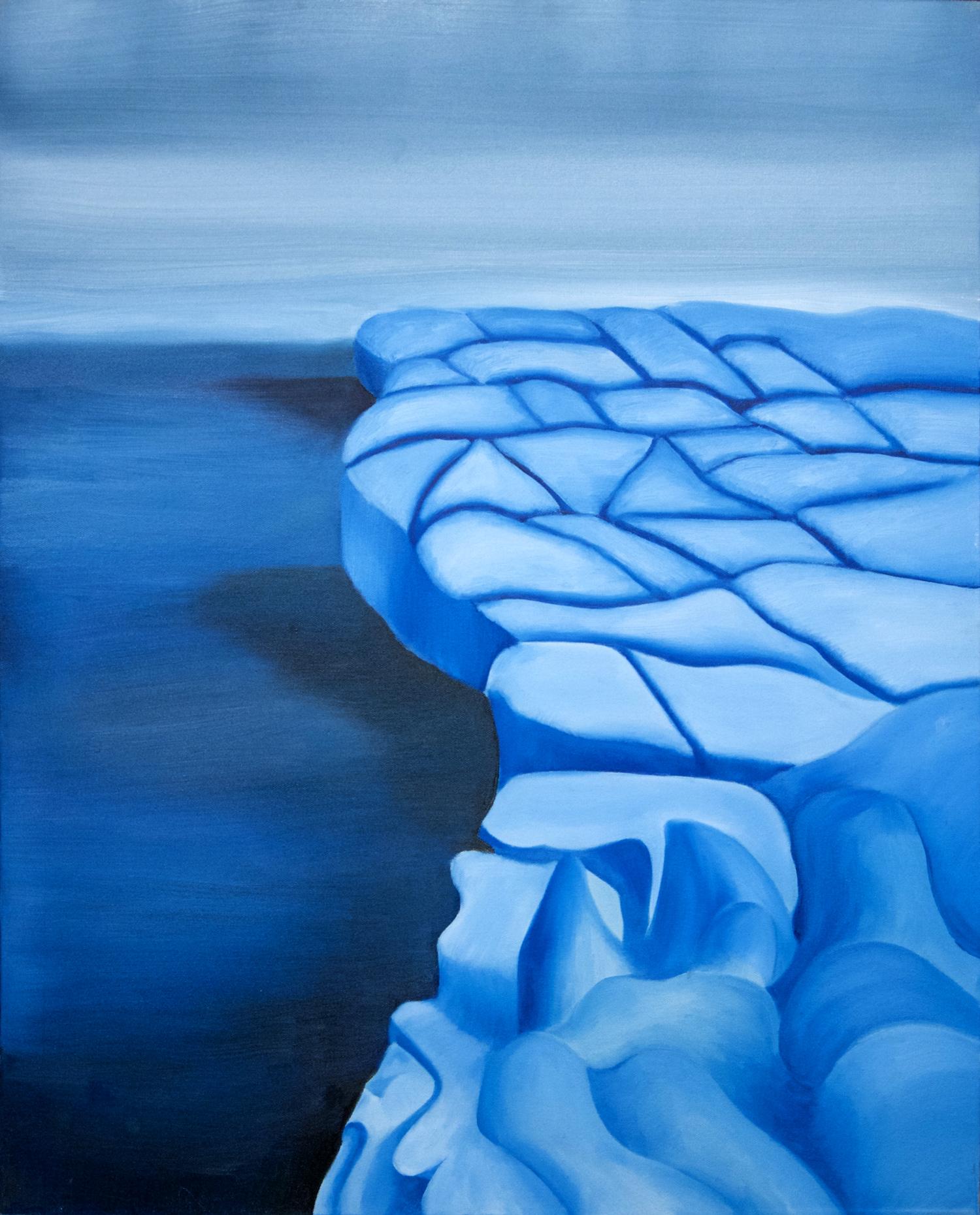 Iceberg oil painting, by Tara Marolf