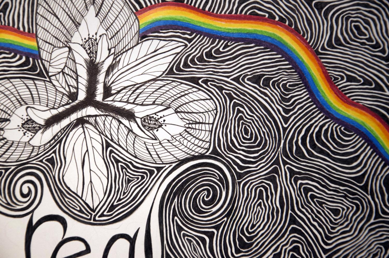 Love Is Real Flower drawing, by Tara Marolf