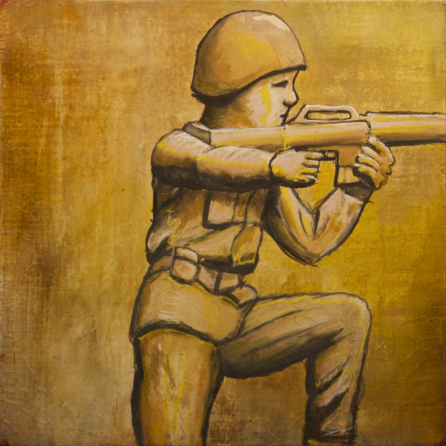 Plastic Soldier gouche painting, by Billy Reiter