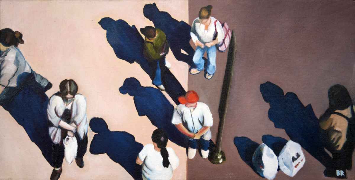 Sidewalk People #10 oil painting (Chicago), by Billy Reiter