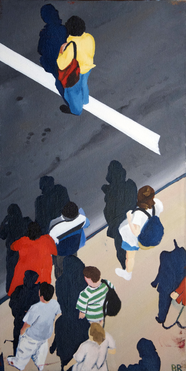 Sidewalk People #11 oil painting (Chicago), by Billy Reiter