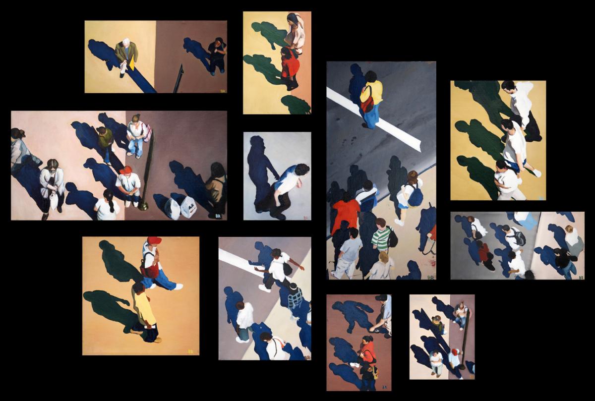 Sidewalk People, oil paintings (Chicago), by Billy Reiter