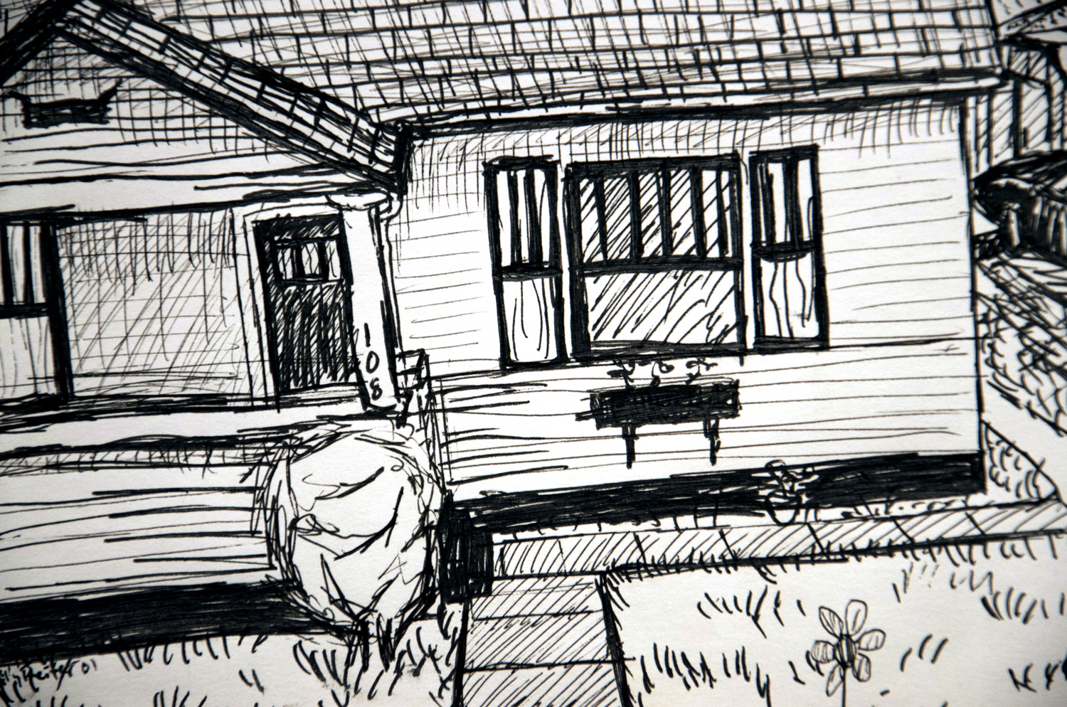 Line Art House : Destroyed house drawing at getdrawings free for personal use