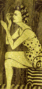 The Good Wife #1 woodcut print, by Tara Marolf