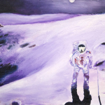 Moon Man oil painting, by Billy Reiter