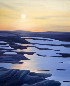 Winter Series oil paintings, by Tara Marolf