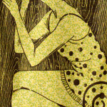 The Good Wife series, woodcut prints, by Tara Marolf