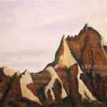 Badlands oil painting, by Billy Reiter
