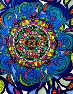 Flowers #7 drawing, by Tara Marolf