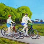 Joe & Marlene oil painting, by Billy Reiter
