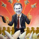 GW Bush Political Satire series oil paintings