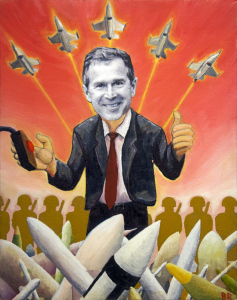 No Guns No Glory, oil painting, by Billy Reiter