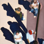 Sidewalk People #7 oil painting (Chicago), by Billy Reiter