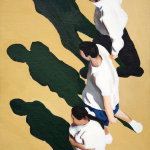 Sidewalk People #9 oil painting (Chicago), by Billy Reiter