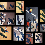 Sidewalk People oil paintings (Chicago), by Billy Reiter