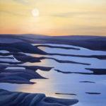 Snowy Field oil painting, by Tara Marolf
