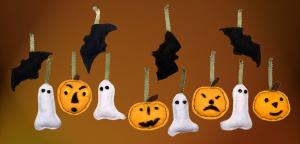Halloween Ornaments felt craft, by Tara Marolf