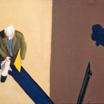 Sidewalk People #4 oil painting (Chicago), by Billy Reiter