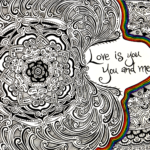 Love Is You flower drawing, by Tara Marolf